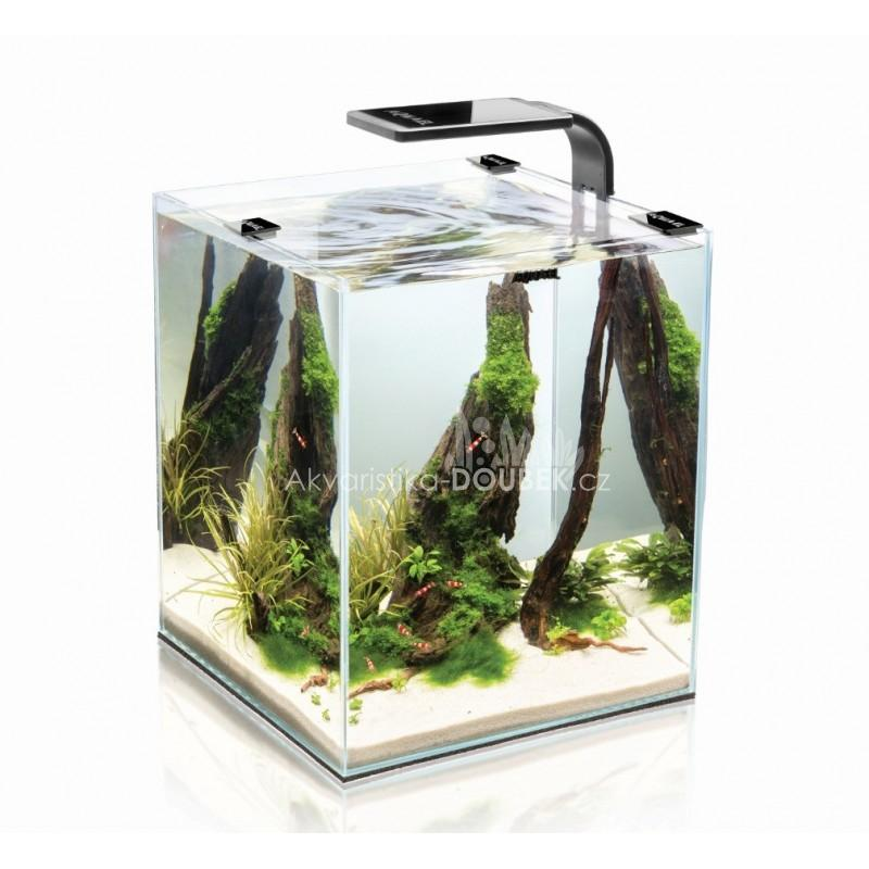 Aquael Shrimp Smart akvarijní set 25x25x30 cm, 20 l bílý